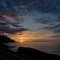 Lake Superior Sunset by Jim West
