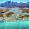 Lake Tekapo And Southern Alps, New Zealand by Lyl Dil Creations