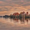 Lake Wausau Fall Shoreline by Dale Kauzlaric