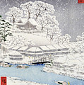 Landscape Under The Snow, Japan By Hokusai by Hokusai