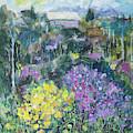 Landscape With Spring Flowers 16x20 by Maxim Komissarchik