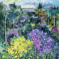 Landscape With Spring Flowers by Maxim Komissarchik