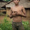Lao Boy And His Bird by Matt Shiffler
