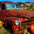 Large Pumpkin And Od Rusty Truck by Garry Gay