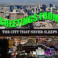 Las Vegas The City That Never Sleeps Custom Pc by David Lee Thompson