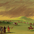 Lasalle Meets On The Prairie Of Texas, A War Party Of Cenis Indians, April 25th, 1686. by George Catlin