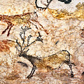 Lascaux Hall Of The Bulls - Five Deer by Weston Westmoreland
