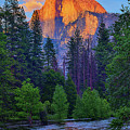 Last Light On Half Dome by Greg Norrell