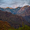 Last Light On Mount Lemmon From Sabino Canyon by Chance Kafka