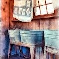 Laundry Day Wash Tubs by Edward Fielding