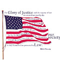 Law And Society American Flag With Robert Kennedy Quote by Lisa Redfern