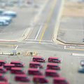 Lax Airport Parking Lot - Tilt Shift by John K. Goodman