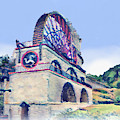 Laxey Wheel 6 by Digital Painting