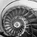 Lblack And White View Of Spiral Stairs Inside The Arch De Triump by PorqueNo Studios