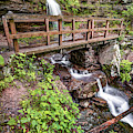 Left Waterfall At Twin Falls - Devils Den State Park by Gregory Ballos