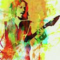 Legendary Kirk Hammett Watercolor by Naxart Studio