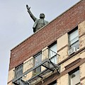 Lenin Statue In East Village N Y C by Nick Difi