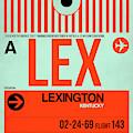 Lex Lexington Luggage Tag I by Naxart Studio