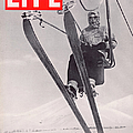 Life Cover 03-08-1937 Skier Riding The by Alfred Eisenstaedt