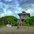 Lifeguard Stand At The Beach by Debra and Dave Vanderlaan