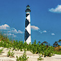 Lighthouse At Cape Lookout Nc by Nick Zelinsky