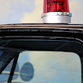 Light On Top Of Motorcade Car For Ronald Reagan by Colleen Cornelius