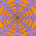 Light Violet On Blue, Yellow On Red Fractal Pattern by Joney Jackson