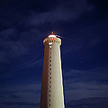 Lighthouse Against Sky With Stars by Bkort Photography