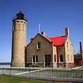 Lighthouse - Mackinac Point Michigan by Frank Romeo