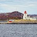 Tyrhaug Fyr Lighthouse Near Kristiansund Norway by Martyn Arnold