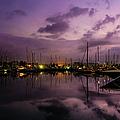 Lightning Over Marina Gouvia, Corfu by Lyl Dil Creations