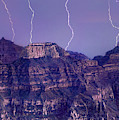 Lightning Strikes North Rim Grand Canyon National Park Arizon by Dave Welling