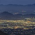 Lights Of Tucson, Arizona By Moonlight by Chance Kafka