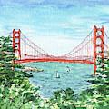 Lincoln Park Golf Course View Of Golden Gate Bridge by Irina Sztukowski