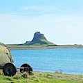 Lindisfarne Castle And Bay by Victor Lord Denovan