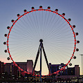 Link High Roller Wheel Las Vegas, At Dusk by Tatiana Travelways