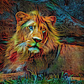 Lion Art by Kaye Menner