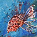 Lionfish Painting by Donna Tuten