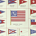 List Of American Yacht Club Flags, From Lloyds Register Of Shipping, 1881 by English School