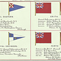 List Of Yacht Club Flags, From The Lloyds Register Of Shipping, 1881 by English School