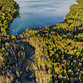 Litte Traverse Lake Vertical Panorama by Twenty Two North Photography