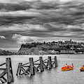 Little Rowers At Cardiff Bay by Steve Purnell