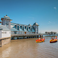 Little Rowers At Penarth Pier by Steve Purnell