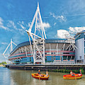 Little Rowers At The Millennium Stadium by Steve Purnell
