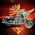 Live To Ride, Ride To Live In Shiny Chrome by Debra and Dave Vanderlaan