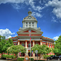 Living History 2 Morgan County Court House Madison Georgia Architectural Art by Reid Callaway