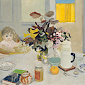 Lizzie At The Table  by Fairfield Porter