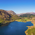 Llyn Dinas, Snowdonia From The Air by Keith Morris