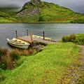 Llyn Y Dywarchen Boats Snowdonia by Adrian Evans