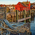Lobster Traps And Line At Motif #1 by Jeff Sinon